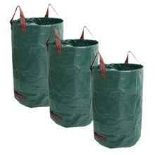 Горячая 80 галлонов сумка из листьев 3 шт многоразовые садовые Дворовые мусорные мешки для двора садовый бассейн мусор