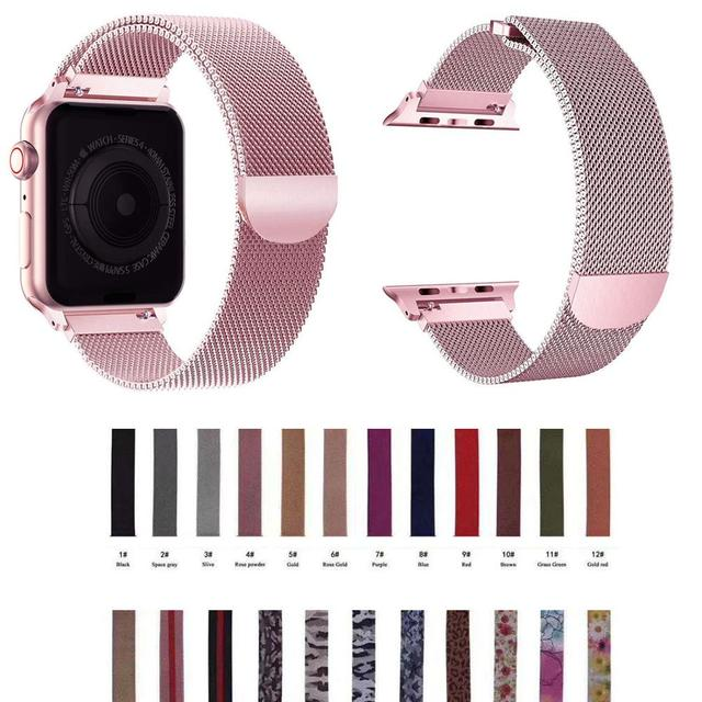 Milanese Loop strap Stainless Steel Strap for Apple Watch Series1/2/3/4 Watch 42mm 38mm iwatch40mm 44mm Watch strap