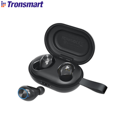 Tronsmart Spunky Beat Earphone Bluetooth 5.0 TWS CVC 8.0 Earbuds with Qualcomm QCC3020 APTX 24H Playtime Voice Assistant IPX5