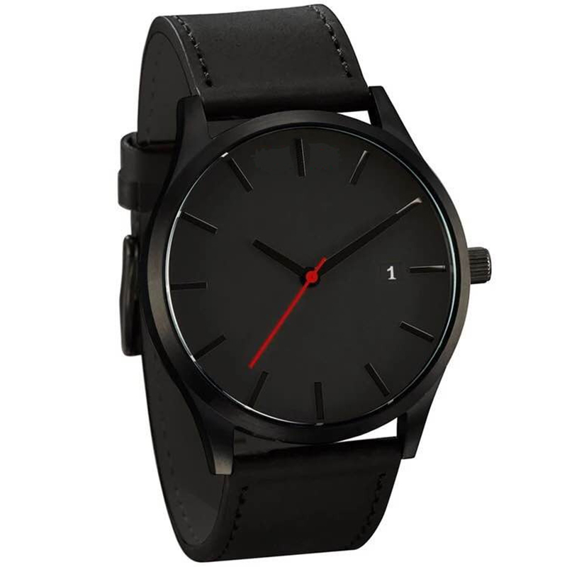 Nouveau mode grand cadran militaire Quartz hommes montre en cuir Sport montres de haute qualité horloge montre-bracelet montre homme horloges vrouwen