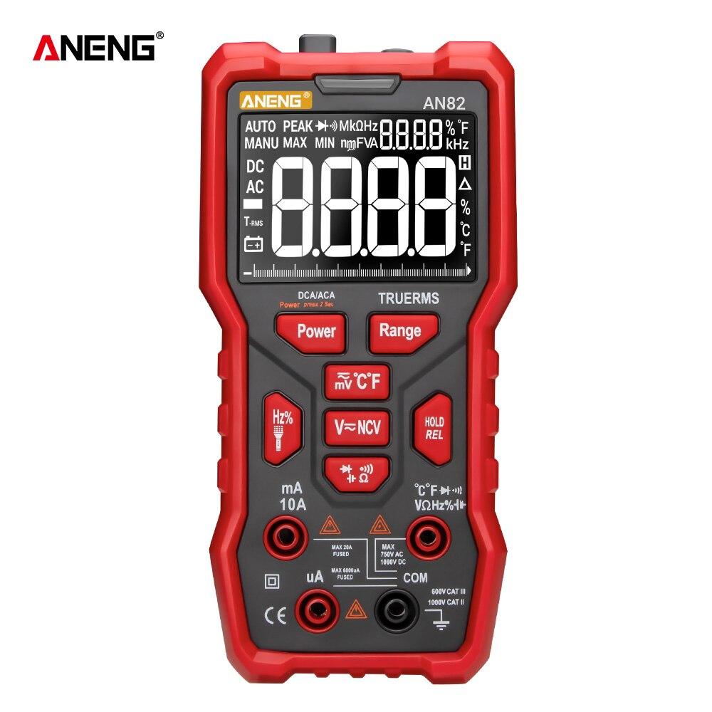 AN82 9999 Counts Digital Multimeter Esr Meter Testers True-RMS Automotive Electrical Dmm Transistor Peak Meters Resistor Test