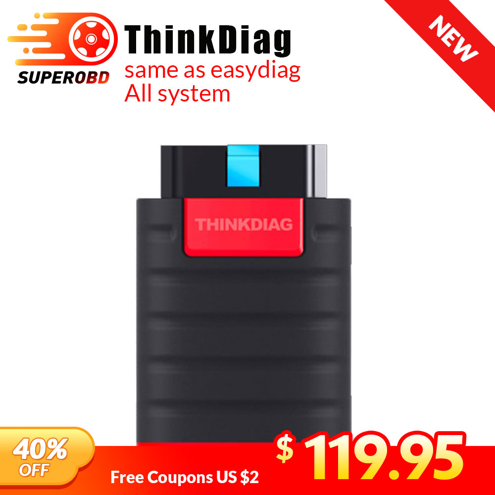 Thinkdiag Same As Easydiag 3.0  X431 Bluetooth Adapter Update Online Full System OBD2 Scanner Diagnostic Tool Easy Diag