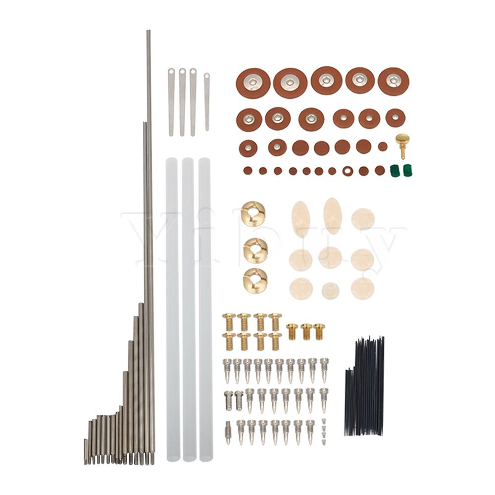 Yibuy Tenor Saxophone Repair Kit Screws + Nuts + Sax Pads + Spring Needles