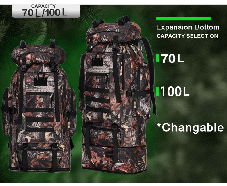 XL Tactical Backpack Capacity