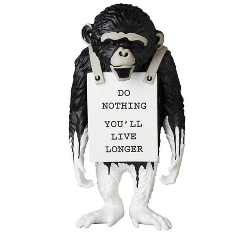 36cm Banksy singe rue célèbre artiste singe signe Statue résine créative Art & artisanat décorations modernes pour la maison ornements R3305