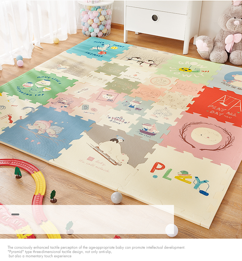 Hf1e08966764849058a3d32150e3ceb7f5 BabyGo Puzzle Baby Play Mat XPE Foam Waterproof 2cm Thickened children's Carpet Crawling Pad Living Room Activity Floor Mat