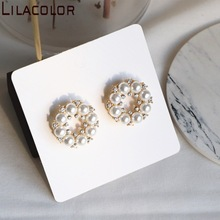 Lilacolor Pearls S925 Silver Pins Earrings