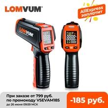 LOMVUM Digital Infrared Thermometer Non Contact Temperature Gun Laser Handheld IR Temp Gun Colorful LCD Display 50-580C Alarm