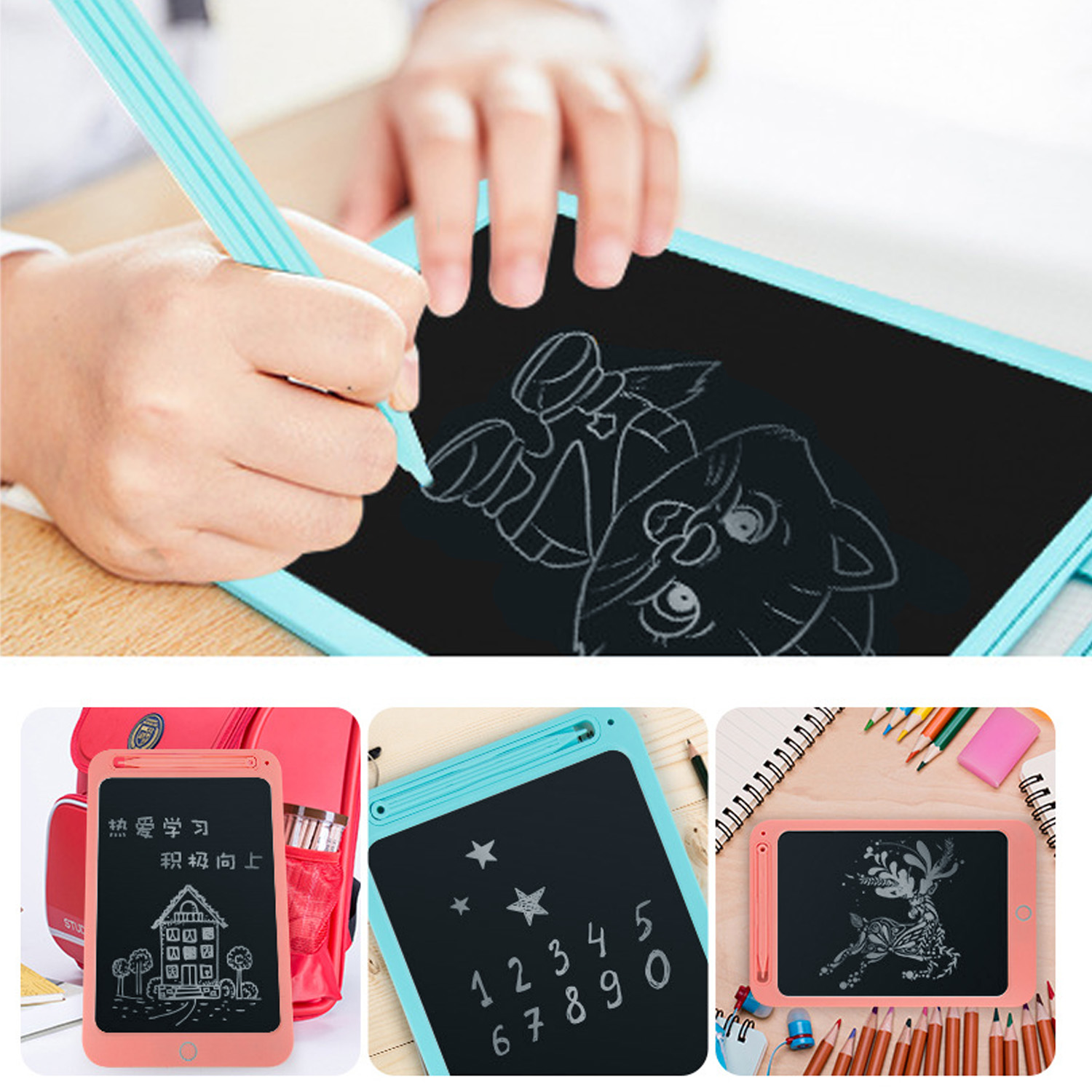 10inch LCD Screen Electronic Writing Drawing Tablet Board With Anti-Erase Lock For Children Kids Birthday Christmas Gift