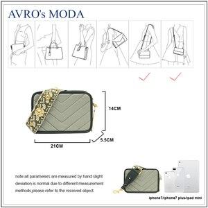 Image 4 - Avro moda moda couro genuíno bolsa de ombro para as mulheres 2019 feminino pequeno crossbody bolsa do vintage quadrado mensageiro saco aleta