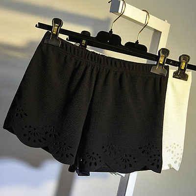 Na co dzień gorące handlowi kobiet biały czarny w połowie talii stałe letnie szorty na co dzień krótkie spodnie pantalon corto mujer verano