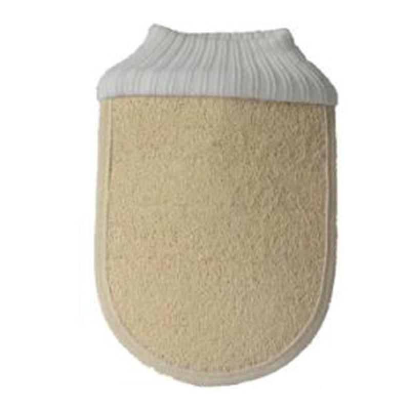 1pc Organic Egyptian Loofah Exfoliating Body Pad Body Exfoliator Elasticated Cuff De-stressing Skin Bath Shower Wash Cloth