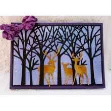 Forest Tree Dies background Metal Cutting Cut Stencils For Card Making Decorative Embossing Suit Paper Cards Stamp DIY