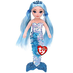 Ty Sea блестки 19 см Индиго голубая русалка плюшевые обычные набивные животные коллекция кукол игрушка