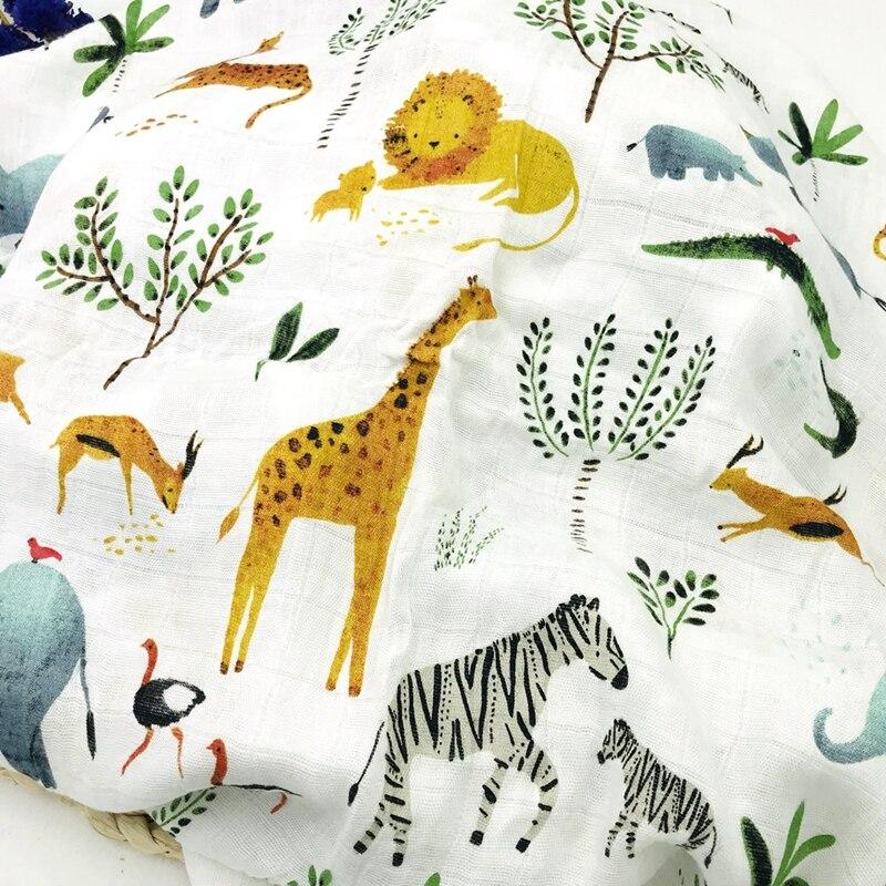 Lion Newborn Muslin 100% Bamboo Fiber Baby Blanket Swaddles Blankets Bath Gauze Infant Wrap Sleepsack Stroller Cover Play Mat