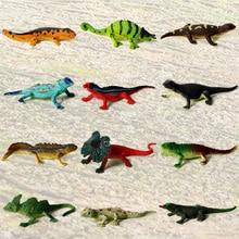 Toys Statues Action-Figures Decoration Collectibles Pet-Animal-Model Lizard 12pcs Assorted-Colors