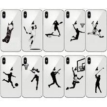 baseball football soccer basketball tennis golf sport athlete soft phone case for iphone 11 pro 5s 6s 6 7 8 plus se x xr xs max