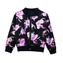 Jacket for Girls Kids Floral Sport Jackets Flower Print Wear Causal Style Teens Coat Outerwear 5-13Years