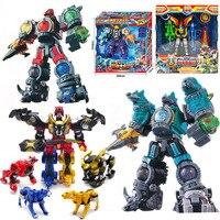 Megazords UCHU 戦隊 KYURANGER 変換ロボット恐竜レンジャーズおもちゃアクションフィギュア子供のクリスマスプレゼントに