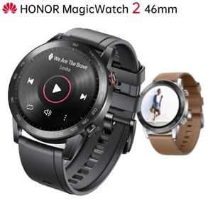 "Image 1 - Original Huawei Honor MagicWatch 2 Outdoor Smart Watch Sleek Slim Long Battery Life GPS Scientific Coach Amoled Color 1.39"" 46mm"