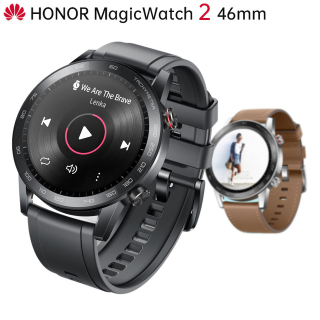 "Original Huawei Honor MagicWatch 2 Outdoor Smart Watch Sleek Slim Long Battery Life GPS Scientific Coach Amoled Color 1.39"" 46mm"