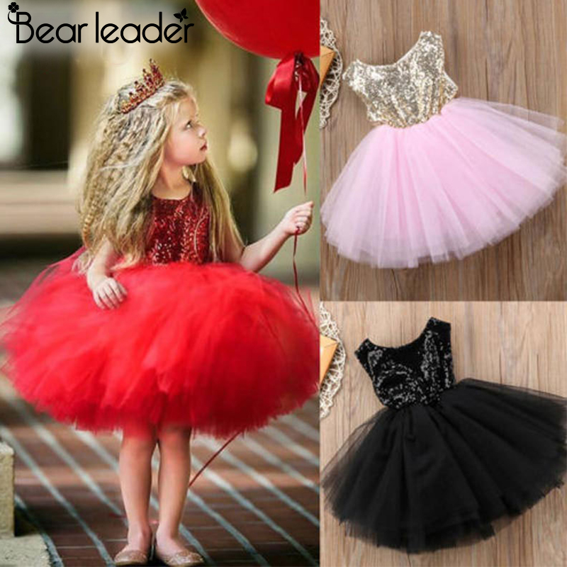 ALI shop ...  ... 32848312720 ... 5 ... Bear Leader Girls Dresses 2020 New Brand Princess Girls Clothes Bowknot Sleeveless Party Dress Kids Dress for Girls 1-6 Years ...