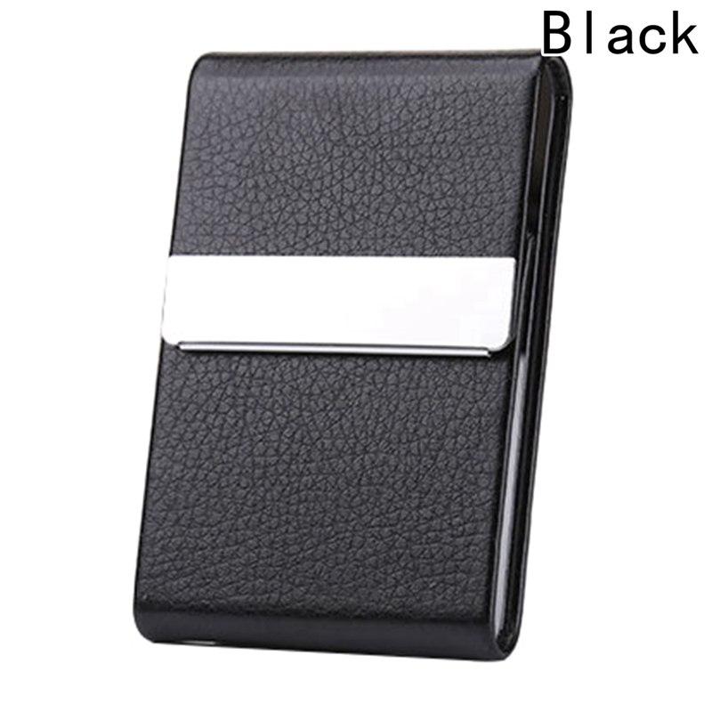 Визитница унисекс, высокое качество, кредитная карта, пакет, держатель для карт, двойной открытый чехол для визиток, Titular De La Tarjeta - Цвет: Черный