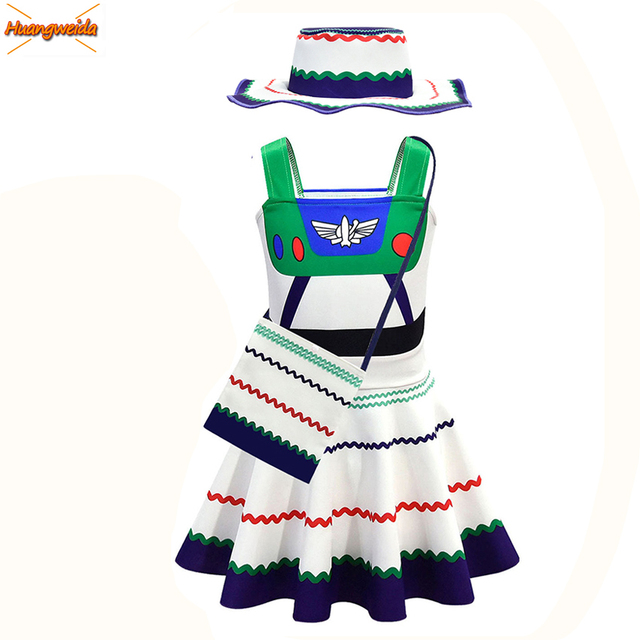 Buzz Lightyear Costumes Girl Dresses Fancy Dress Halloween Costumes For Kids Buzz Lightyear Role Play  Cosplay Costumes
