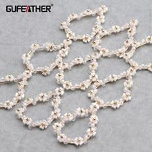 Gufeather m655, acessórios de jóias, pingentes diy, feitos à mão, metal de cobre, encantos, jóias fazendo, brincos diy, 6 pçs/lote