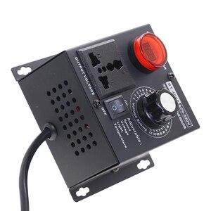 Image 3 - Ue wtyczka AC220V 4KW SCR regulowane napięcie ściemniacz światła temperatury silnika regulator prędkości wiatraka