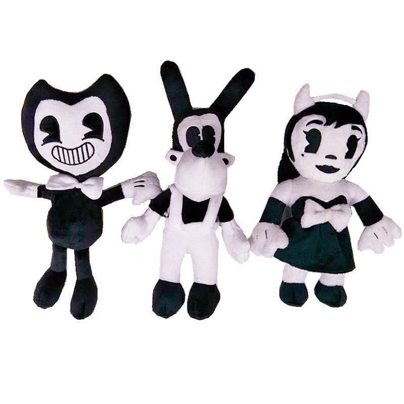 4 Style Plush Toys  Bandy & Ink Maker Doll Cartoon Thriller Game Plush Toy Stuffed Animal Toys For Children Kids Gift M007