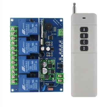 1 Juego de módulo de relé electrónico 30A de CC, 12V-48V, interruptor controlador inalámbrico de 4 canales para cebo de radiocontrol, remolcador, piezas de Juguetes DIY