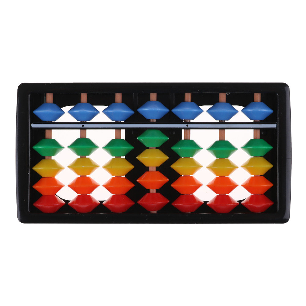 7 Digits Kids Maths Calculating Tools Plastic Abacus Arithmetic Soroban Chinese Abacus Toys Abacus Educational Small Size 12x6cm