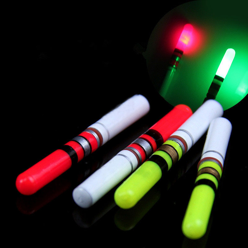 1Pcs 3.7*0.46cm Fishing Luminous Float Battery Operated LED Float For Dark Water Night Fishing