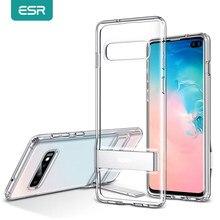 Coque de téléphone Samsung S10 e S10 Plus, ESR Business, étui antichoc en TPU avec support en métal