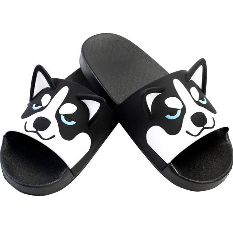 Image 4 - Super Cute Corgi Huskie Sandal Cartoon Original Cosplay Costumes Shoes Summer Lovers Soft Soled Japanese Home Slipper Nice GiftShoes   -