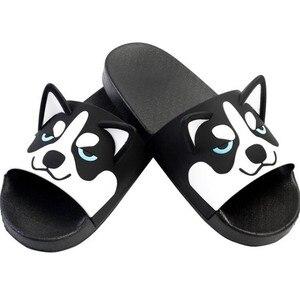 Image 4 - Super Cute Corgi Huskie Sandal Cartoon Original Cosplay Costumes Shoes Summer Lovers Soft Soled Japanese Home Slipper Nice Gift