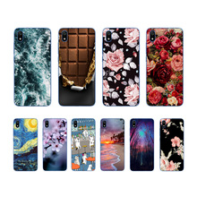 Cute Art Case Coque For Xiaomi Redmi 7 7a Novelty Flowers Silicone Phone Cover 7A Back Fundas
