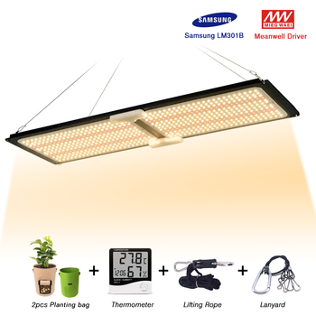 LED Grow light Quantum tech 2000W Dimmable Full Spectrum 3000K fast cooling for indoor grow tent planting,with 2pcs planting bag a time for planting v 1