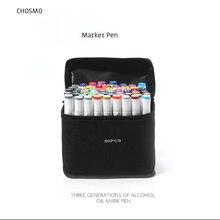 אמנות סמן 12/24/36/48/60/99 צבע אלכוהול מבוסס עט סמן כפול ראש סקיצה סמן מברשת עט לתיקו מנגה עיצוב אספקת אמנות
