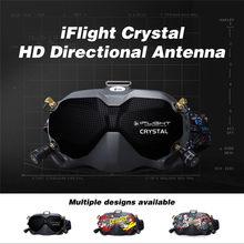 Iflight Crystal Hd патч 5,8 ghz 9dbi антенна направленная плоская панель Lhcp Rp-sma с корпусом Fpv антенны для Fpv очки Rc Дрон