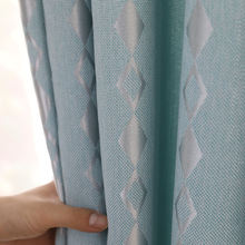 Простые и свежие плотные сетчатые затемняющие шторы модные Современные