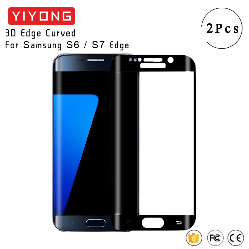 YIYONG 3D Edge Curved Glass For Samsung Galaxy S6 S7 Edge Plus Tempered Glass Screen Protector For Samsung S7 Edge S 7 S 6 Glass image