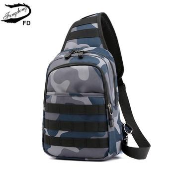 FengDong men mini shoulder bag small messenger bag waterproof camouflage sling chest bag pack crossbody bags for women bagpack