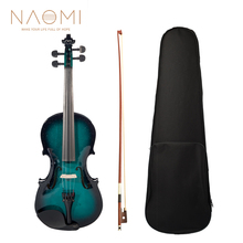 Violin Bow-Case Musical-Instruments Brazilwood Fiddle 4-Strings NAOMI Acoustic with