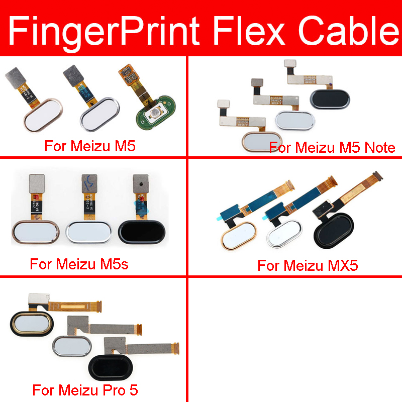 Home Button Flex Cable For Meizu Pro 5 M5 M5s MX5 Note Menu Key Fingerprint Recognition Sensor Flex Cable Replacement Repair