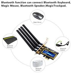 Image 5 - Dual Band 802,11 ac 1750Mbps BCM94360CD Bluetooth 4,0 Wi Fi Karte Desktop Hackintosh Mac OS PCIe Wifi Adapter Wireless 4 antennen