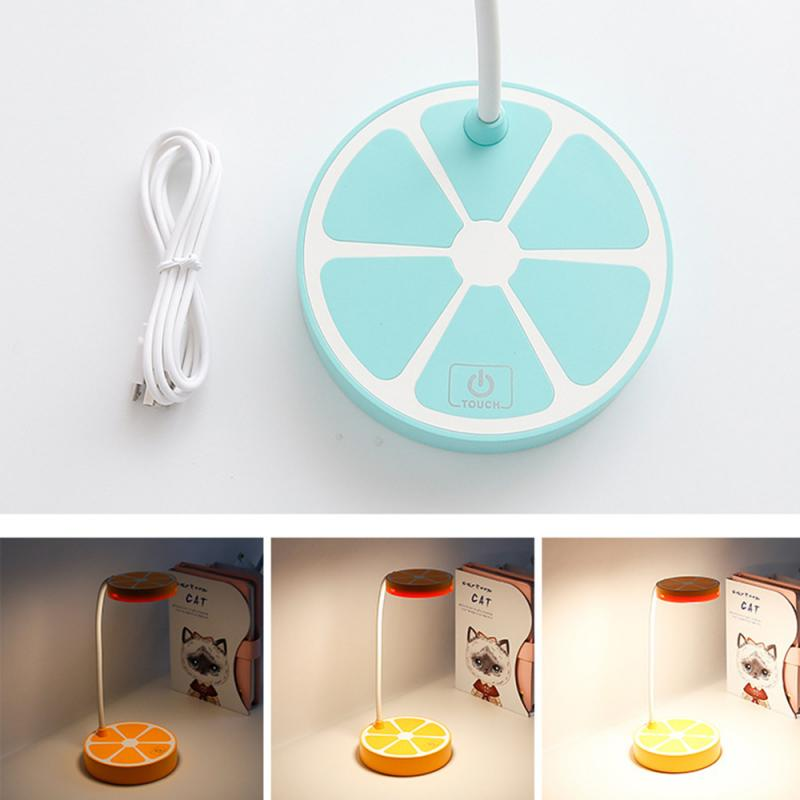 Creative Lemon LED Small Table Lamps Fruit Shape Touching Induction Dimmable Lights Bedside Bedroom Night Lighting 4
