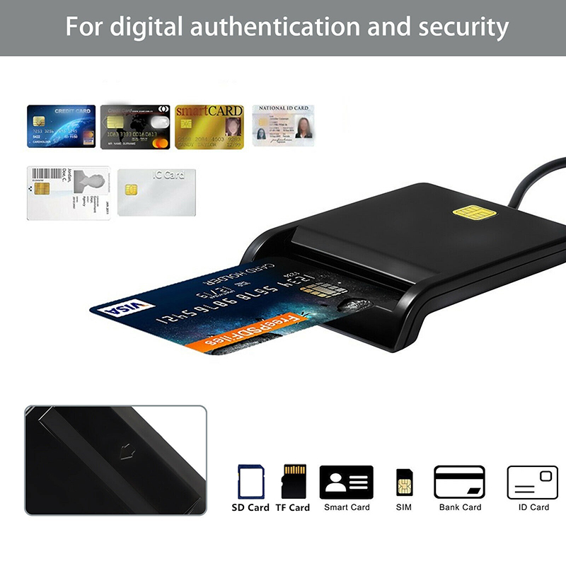 Portable Usb Smart Card Reader Untuk Sd Atm Cac Tf Id Kartu Bank Kartu Sim Reader Cloner Konektor Untuk Windows Linux Vista 7 8 Control Card Readers Aliexpress