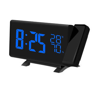 New Creative TS-5210 LED Projection Alarm Clock Digital Radio Snooze Timer Temperature LED Display FM Radio Three Colors Clock